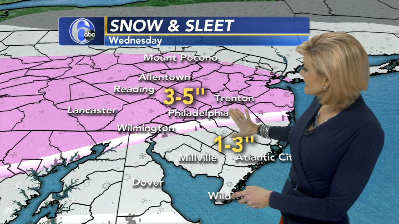 Cecily Tynan with AccuWeather during Action News at 6 p.m. on February 19, 2019.