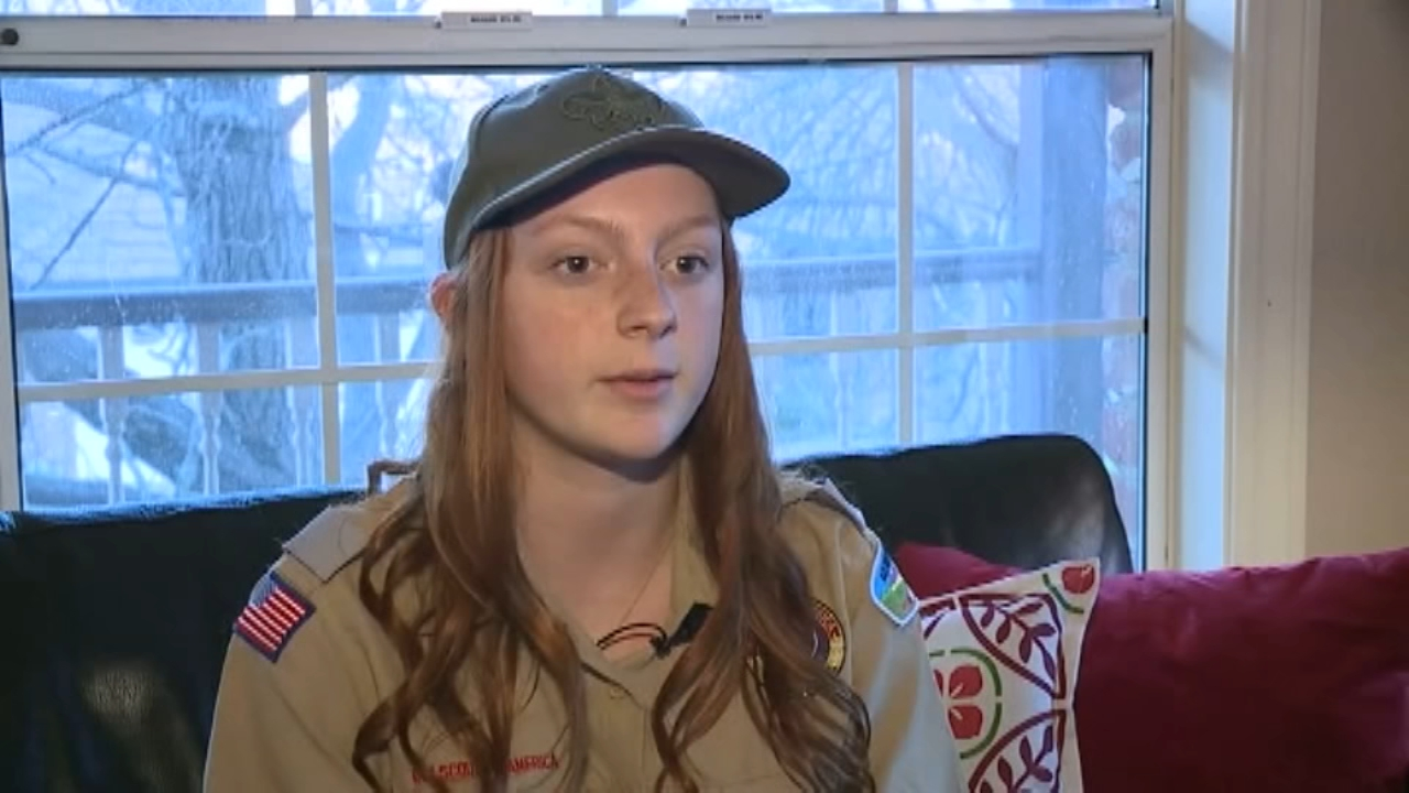 A teenager in California whose grandfather, father, and brother were all Eagle Scouts, is now trying to do the same, only she is a girl.