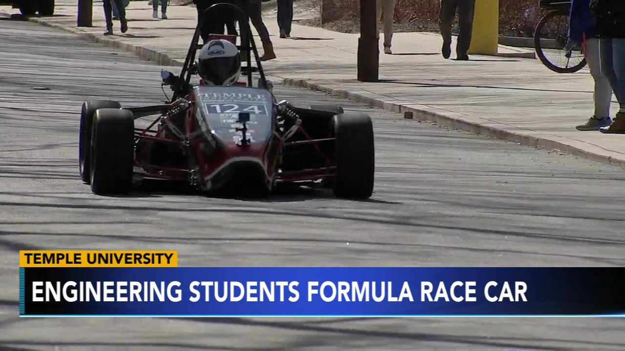 In celebration of National Engineers Week, Temple students drove their very own Formula Race car through campus as reported during Action News at 4 on February 19, 2019.