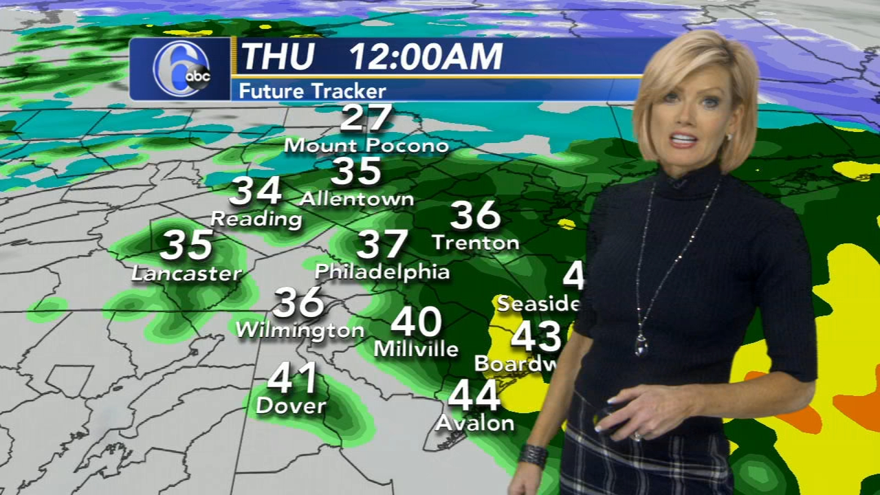 Cecily Tynan reports on AccuWeather during Action News at 6 p.m. on February 20, 2019.
