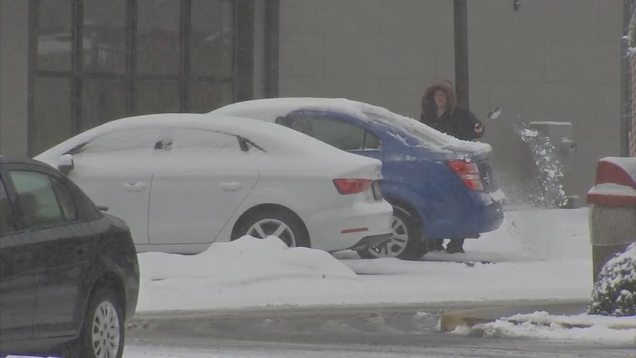 Snow turns to sleet and freezing rain in Quakertown. Walter Perez reports during Action News at 5 p.m. on February 20, 2019.