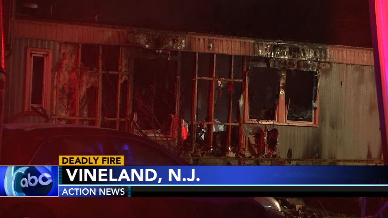 A woman has died after a fire ripped through a mobile home in South Jersey. Jim Gardner has more on Action News at 11 p.m. on Feb. 20, 2019.