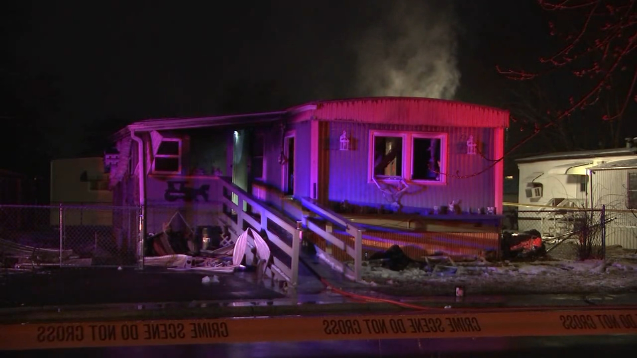 A woman has died after a fire ripped through a mobile home in South Jersey on Wednesday afternoon.