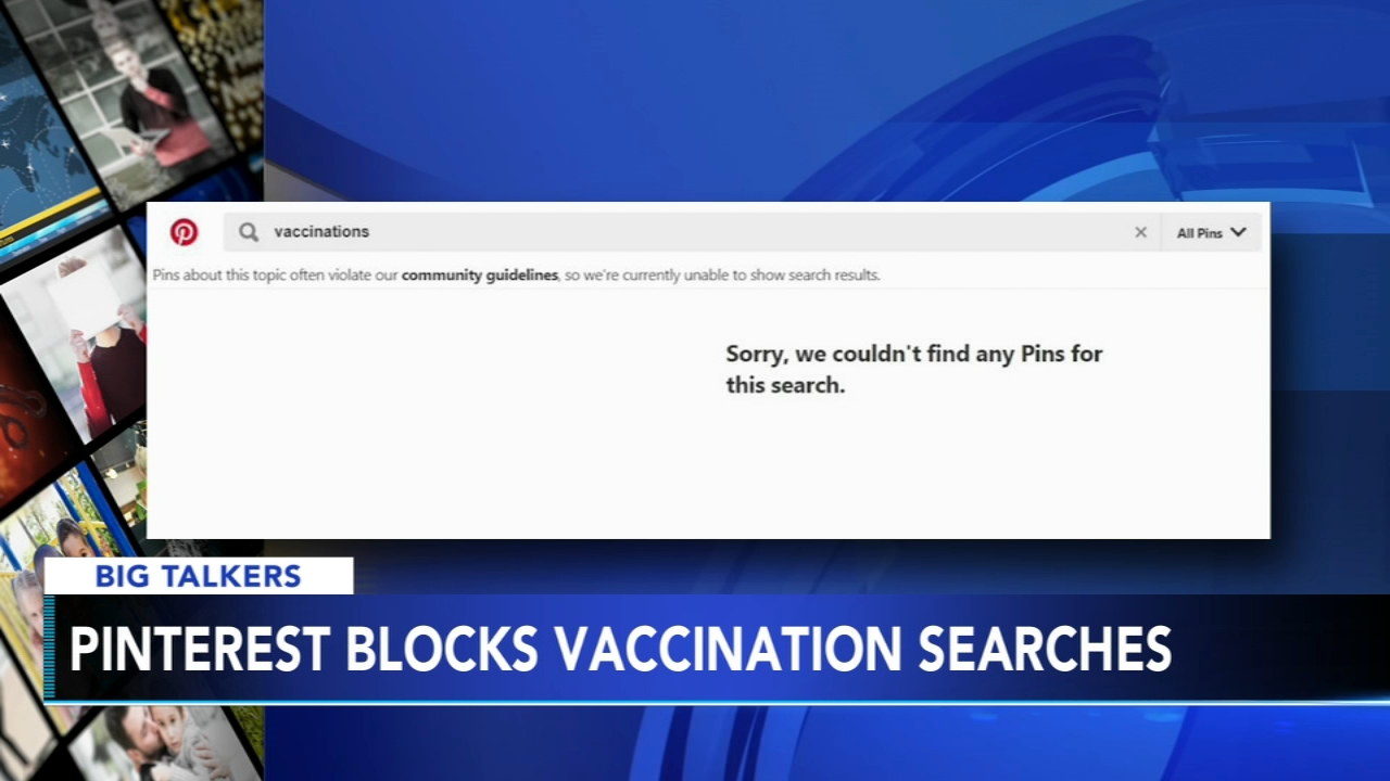 Pinterest removes vaccine-related posts from search engine to avoid spread of misinformation. Sharrie Williams reports during Action News at 4 p.m. on February 22, 2019.