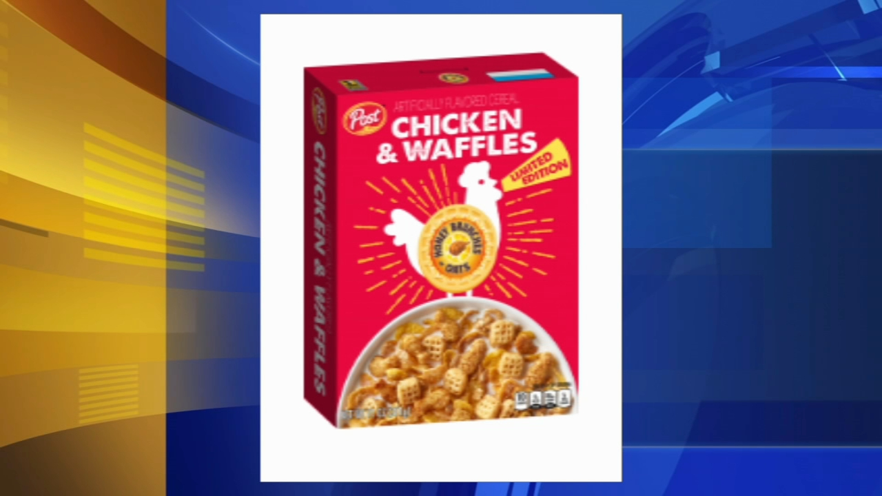 Post releases Chicken and Waffles cereal. Tamala Edwards reports during Action News Mornings on February 22, 2019.
