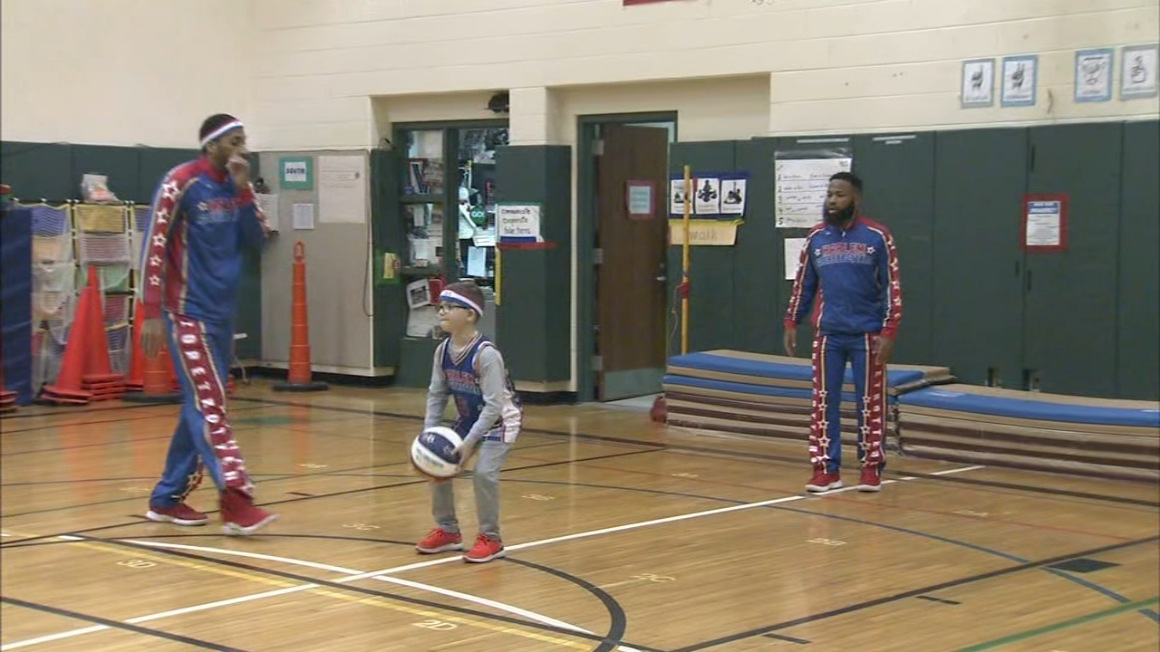 The Harlem Globetrotters were in town and not just to play basketball. Ducis Rodgers has more on Action News at 10 p.m. on Feb. 22, 2019.