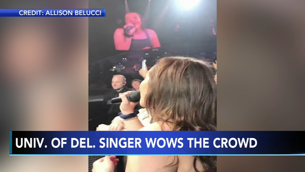UDel student wows crowd at Michael Buble concert. Karen Rogers reports during Action News Mornings on February 22, 2019.