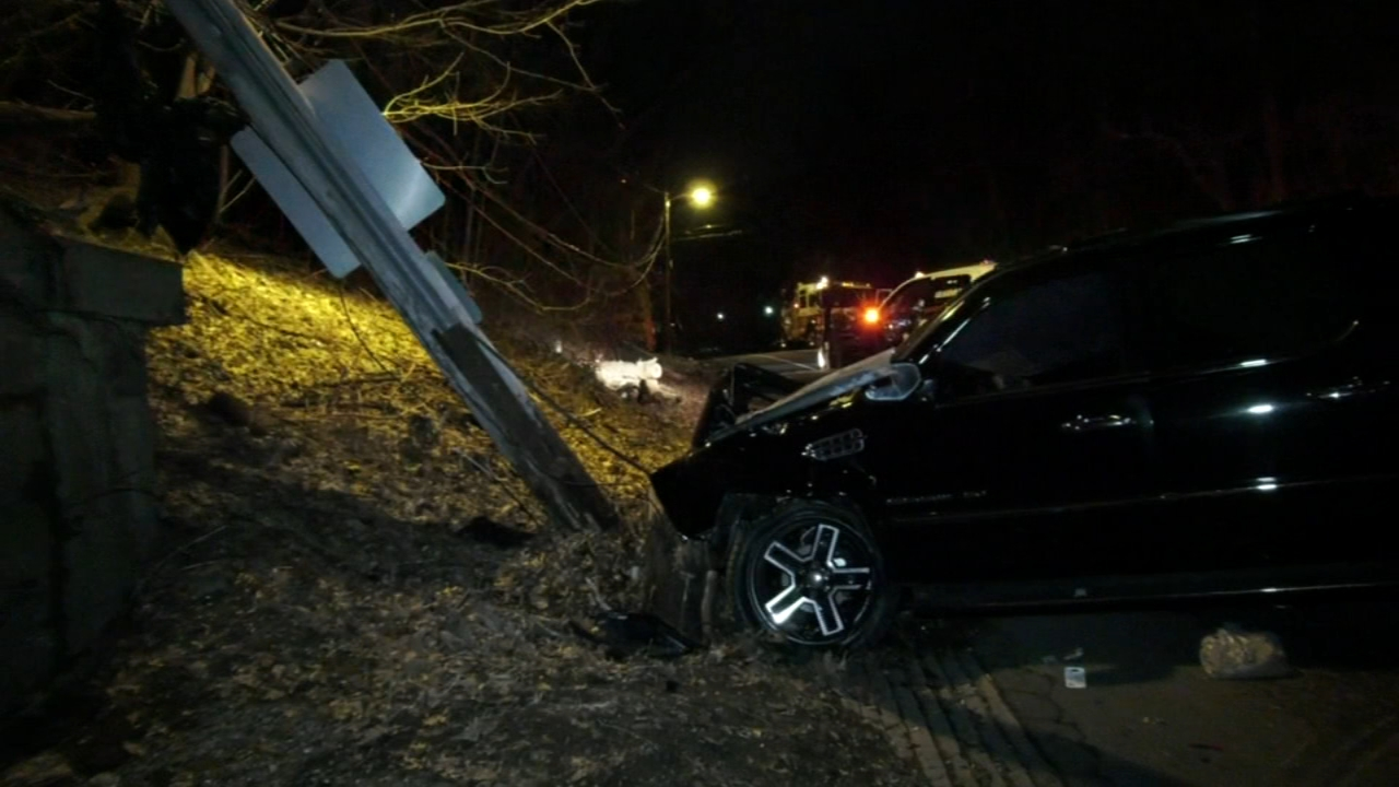 Driver loses control, crashes into utility pole in Fairmount Park. Gray Hall reports during Action News at 6 a.m. on February 23, 2019.