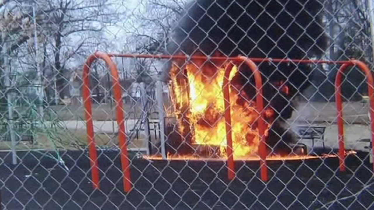 Fire damages playground under renovation in Logan. Walter Perez reports during Action News at 6 p.m. on February 23, 2019.