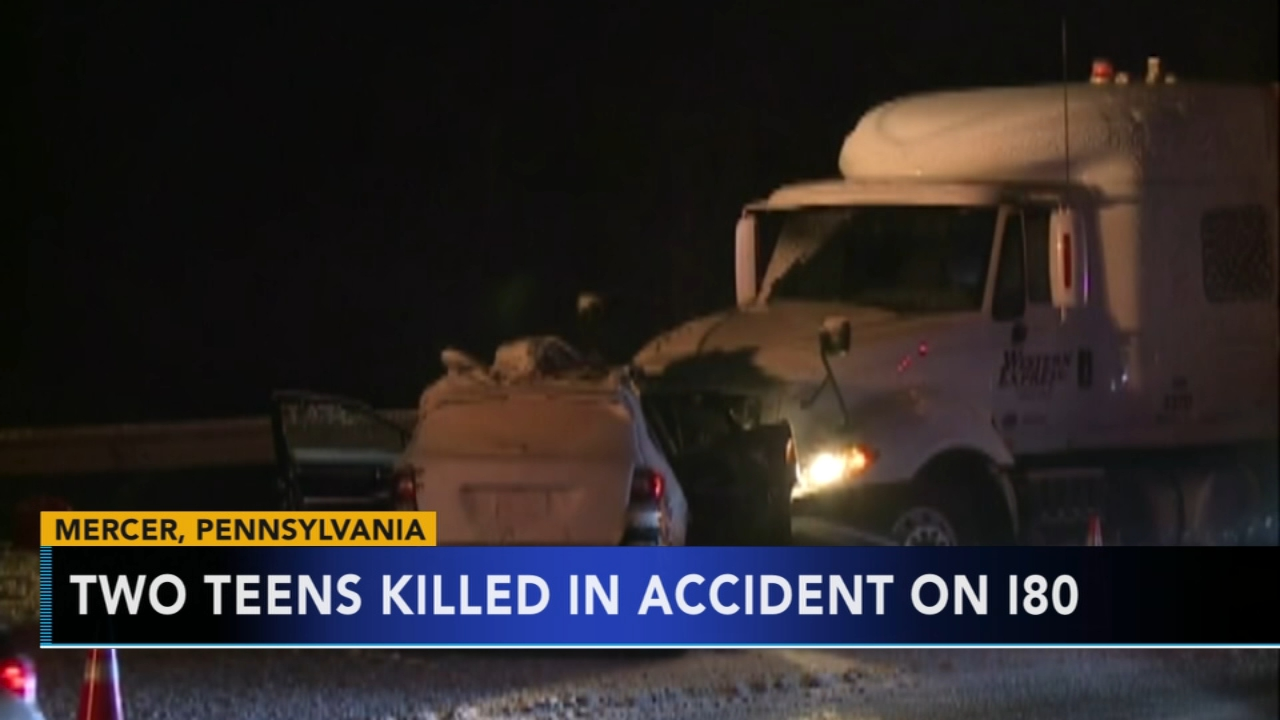 Police: Weather a factor in crash that killed 2 teen girls on I-80