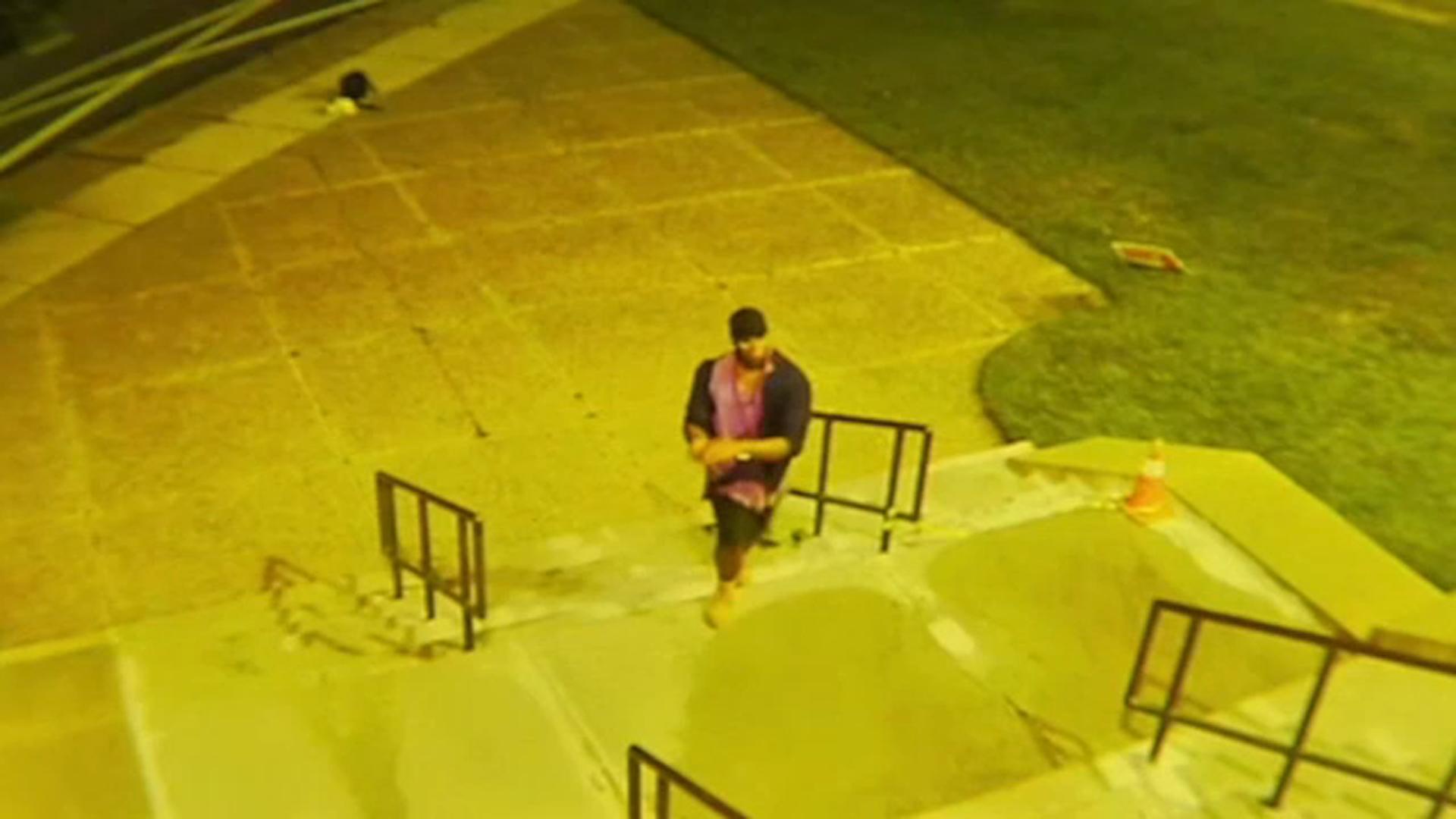 Suspected Vandal Caught On Camera Throwing Rocks At West Oak