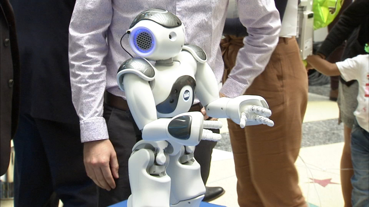 Interactive robot added to medical staff at Children's
