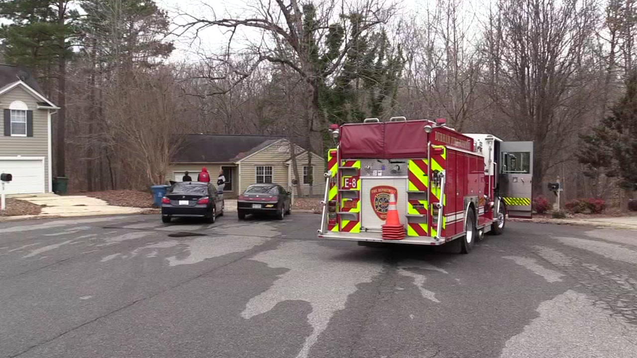 Durham fire officials said a building fire was started by a child  playing with a lighter on Sunday.