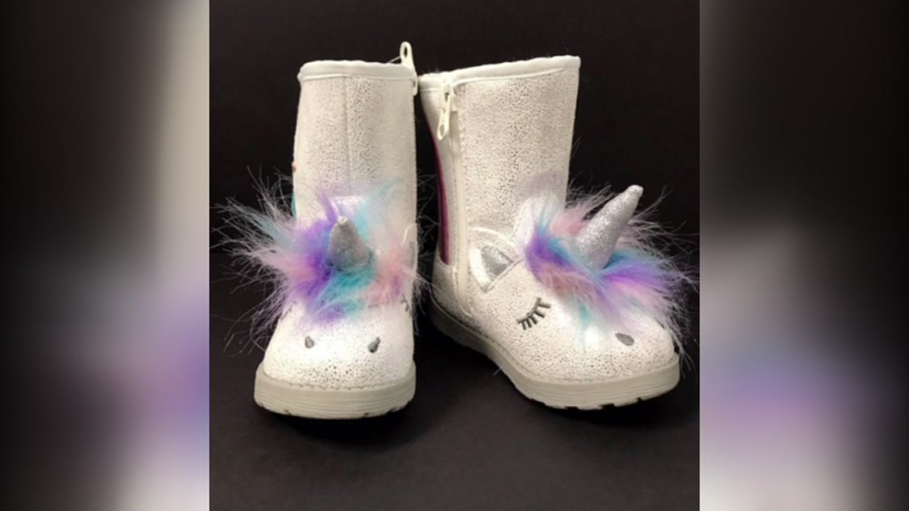 Target is recalling the Cat and Jack Unicorn Chiara boots due to a possible choking hazard.
