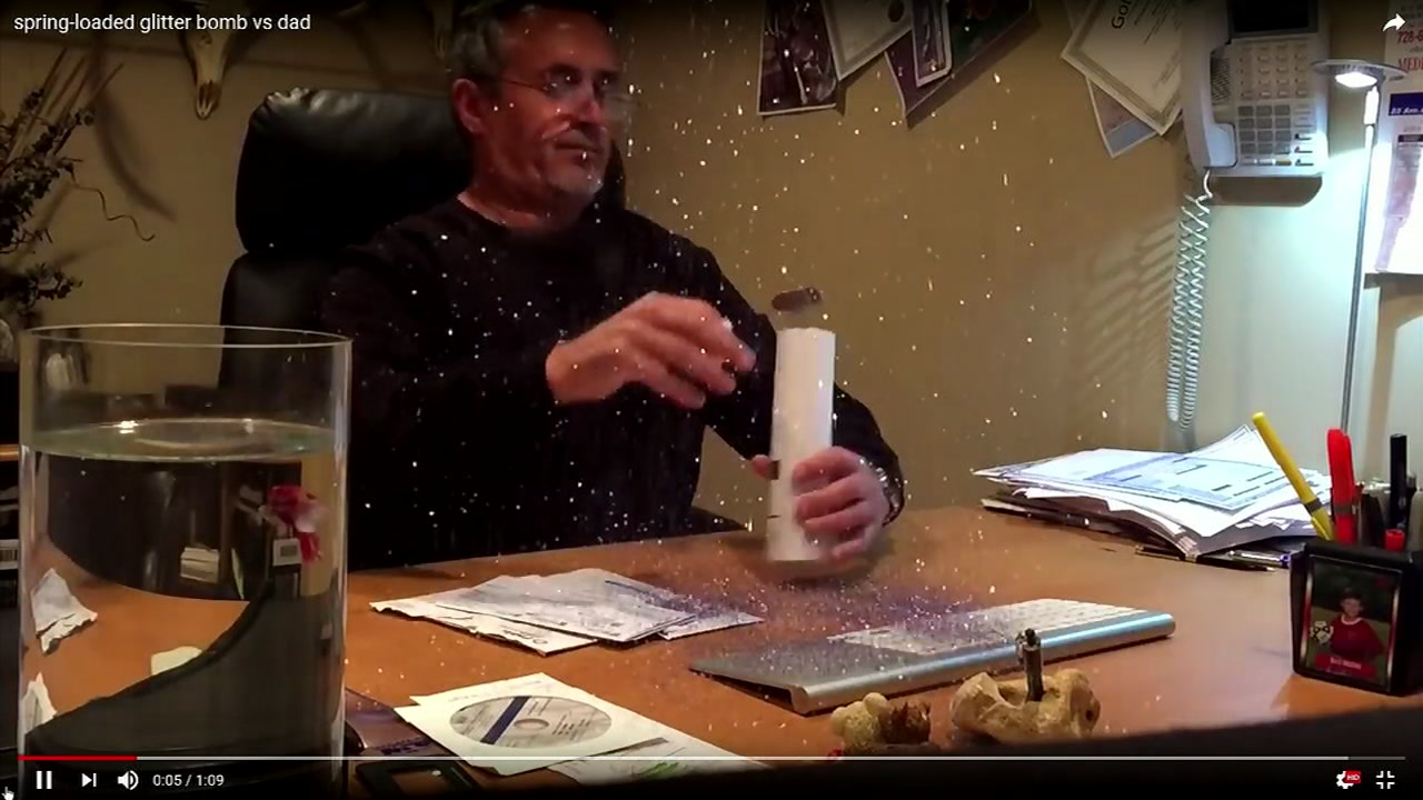 Wake County Commissioner Greg Ford received a glitter bomb at his home.
