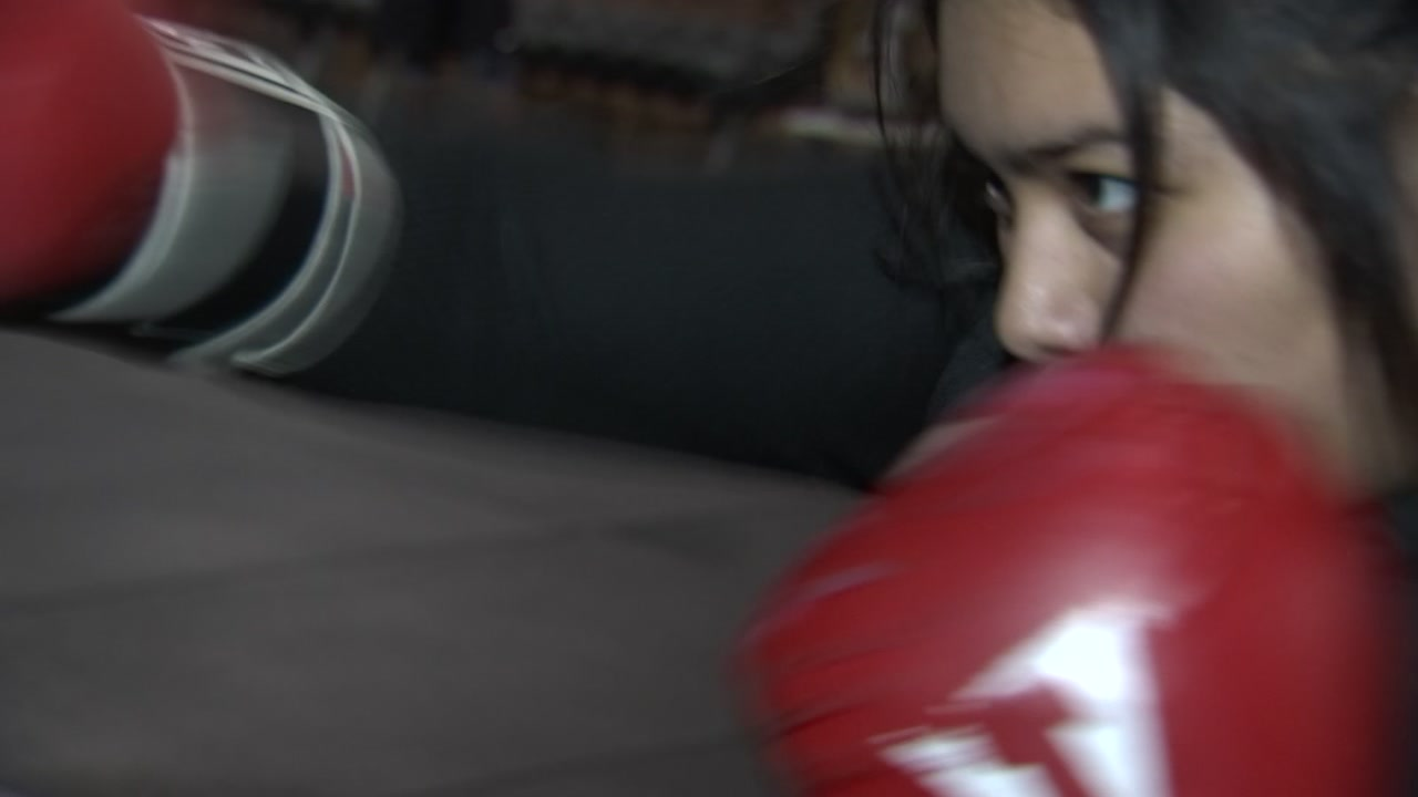 Carmela Dorantes, a freshman at Southeast Raleigh High School, has a passion for boxing.