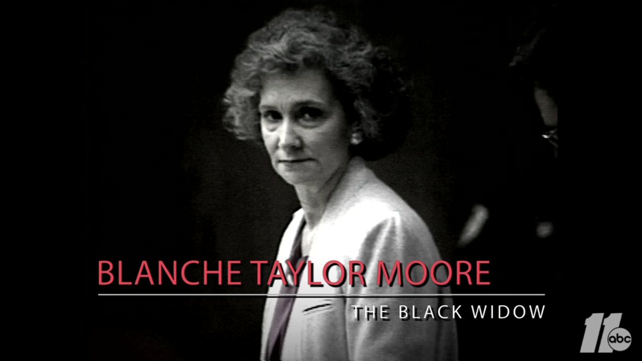 The story of The Black Widow, Blanche Taylor Moore