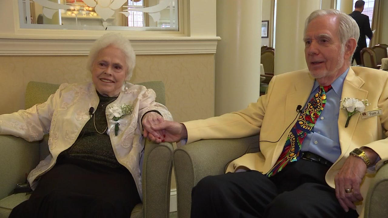 A group of couples at the Waltonwood Senior Living community decided to renew their vows.
