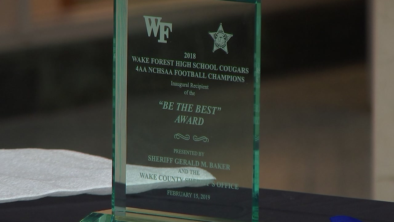 Wake Forest High School football team recognized by Wake County Sheriff