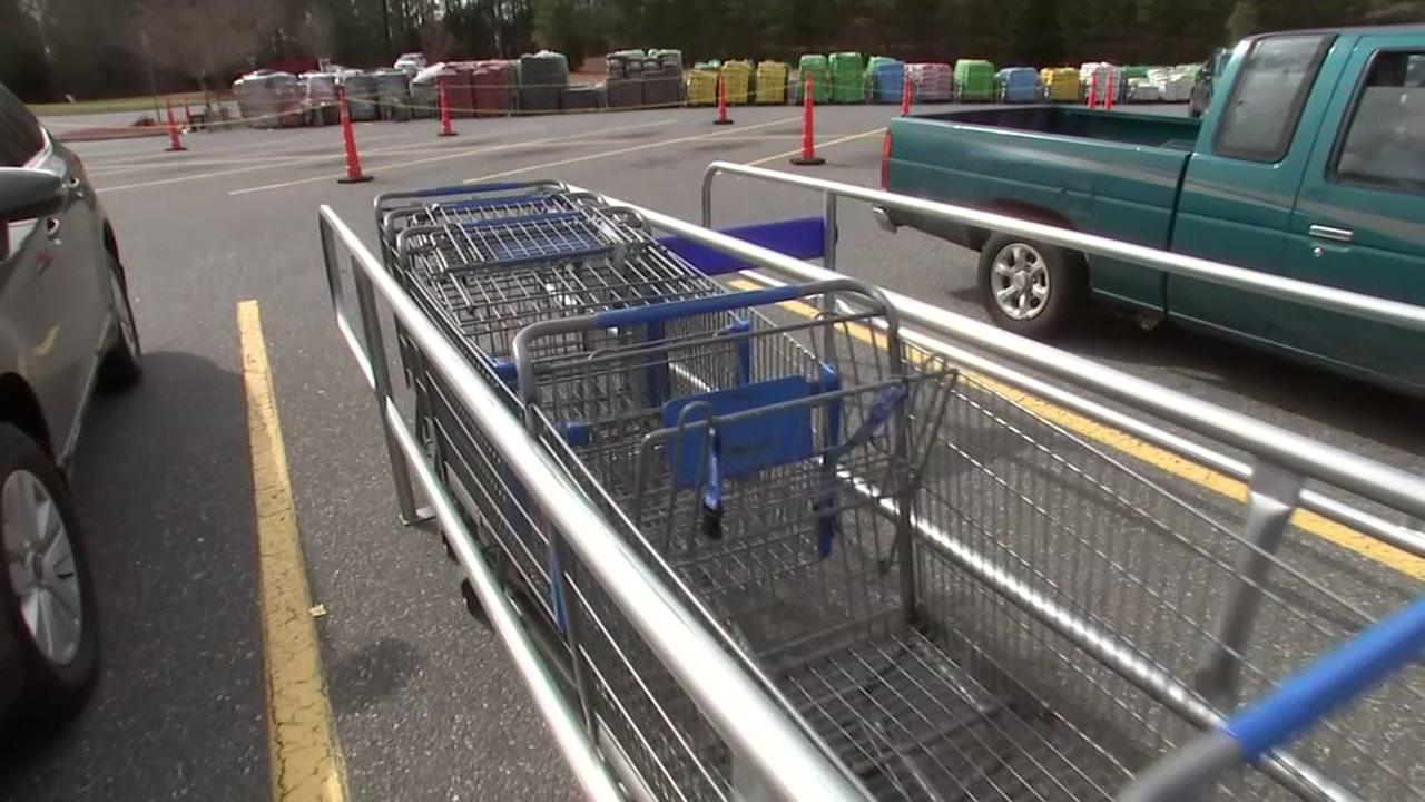 Razor blades found on Siler City shopping carts at Walmart.