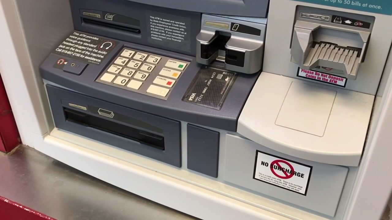 A Raleigh man said someone took $4,000 from his bank account by skimming his account info from an ATM.