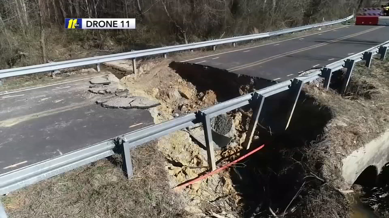 Drone11 flies over the Garner sinkhole.