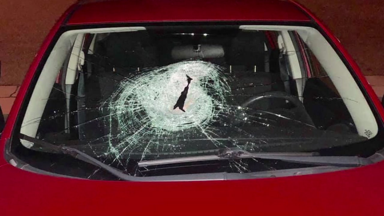 Fayetteville Police Department is investigating reports that a brick was thrown on a womans car while she drove down the interstate.